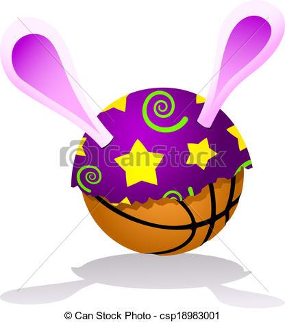 Bunny clipart basketball Bunny Egg Vector csp18983001 a