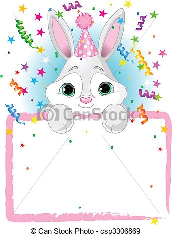 Birthday clipart bunny Birthday Baby Bunny Adorable of