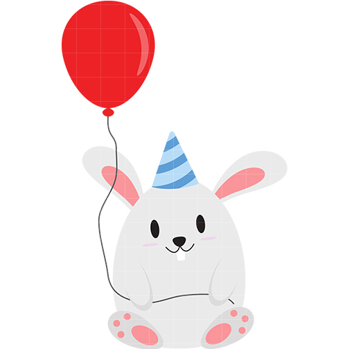 Birthday clipart bunny With Download Birthday With Rabbits