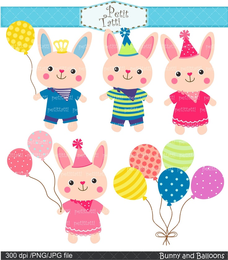 Birthday clipart bunny Parties kids birthday images