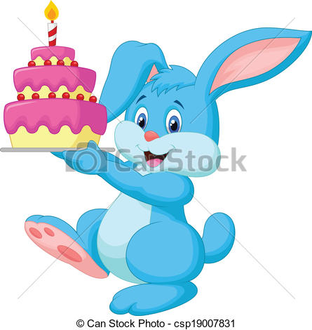 Birthday clipart bunny With Rabbit cartoon with Vectors