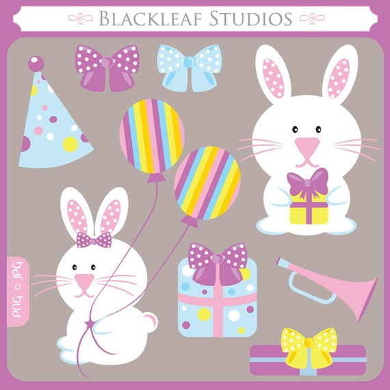 Birthday clipart bunny Bunny Baby Birthday Baby bow