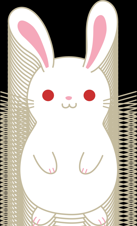 Drawn bunny chubby bunny Bunny Albino White Cute White