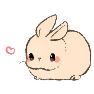 Drawn rabbit fluffy bunny A images Bunny cute ideas