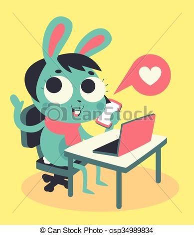 Bunny clipart computer Girl Bunny and Cute and