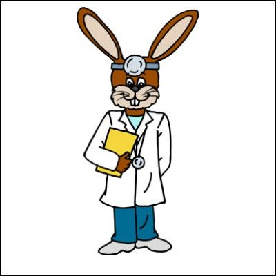 Bunny clipart doctor Hare not a doctor