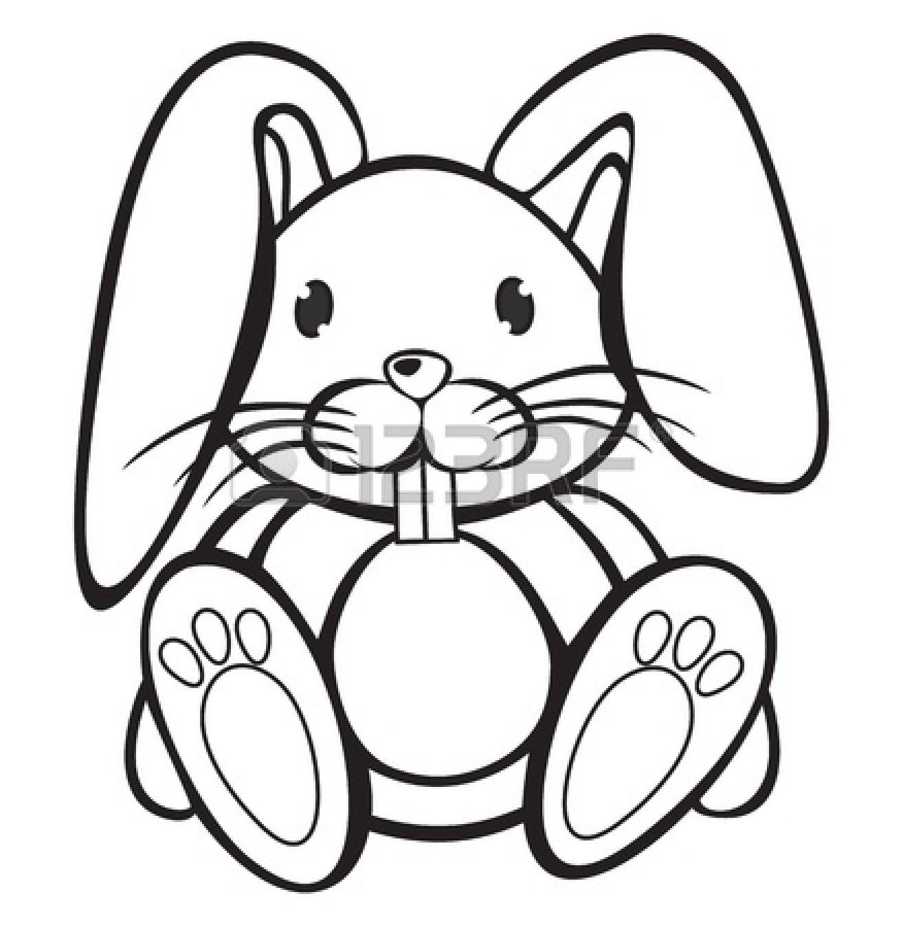 Drawn rabbit cliparts Black clipart collection Rabbit Bunny