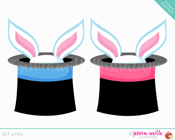 Bunny clipart magic hat Download Ears Instant Digital in