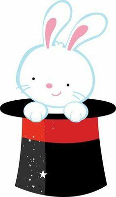 Bunny clipart magic hat In paper Magician Rabbit com