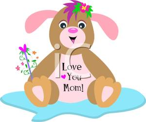 Bunny clipart mommy Love 'I Picture Love Bunny