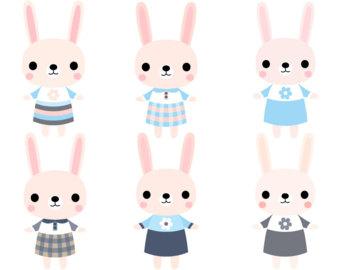 Bunny clipart rabit Art clipart art Etsy Cute