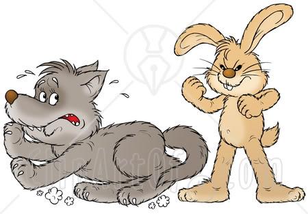 Scary clipart bunny #2