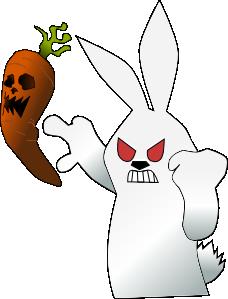 Scary clipart bunny #1