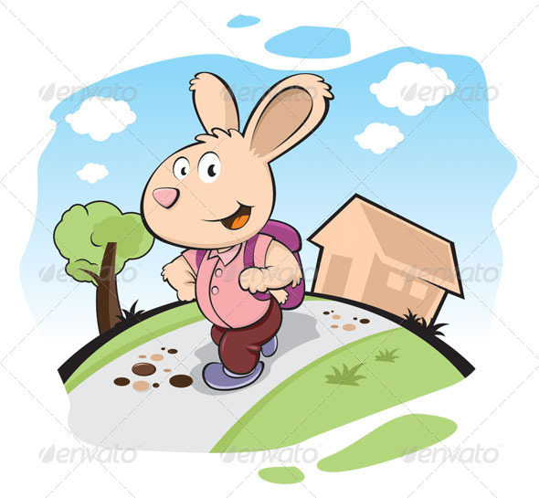 Bunny clipart school Studying School ideas More to