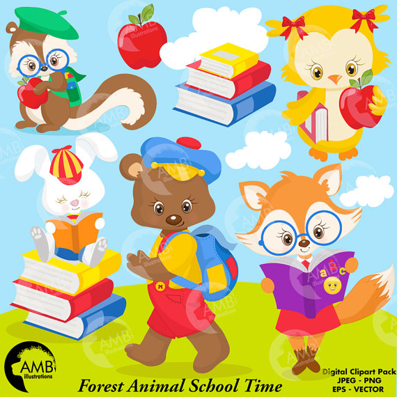 Bunny clipart school Owl to Clipart Animal Back