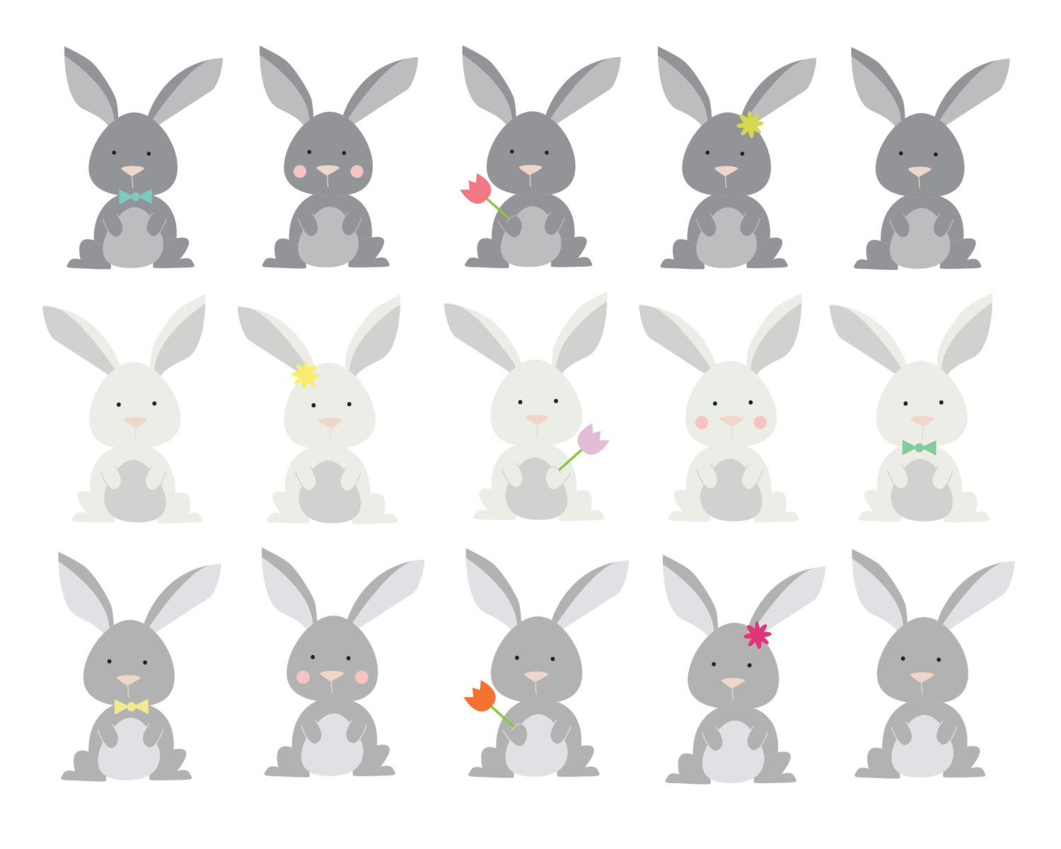 Rabbit clipart woodland #12