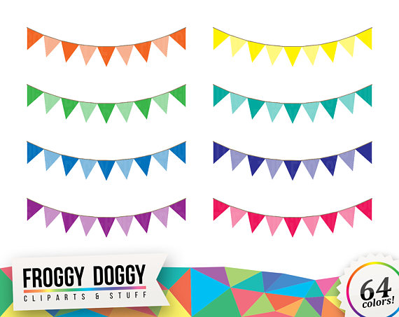 Bunting clipart celebration banner Celebration Cliparts from Etsy Scrapbooking