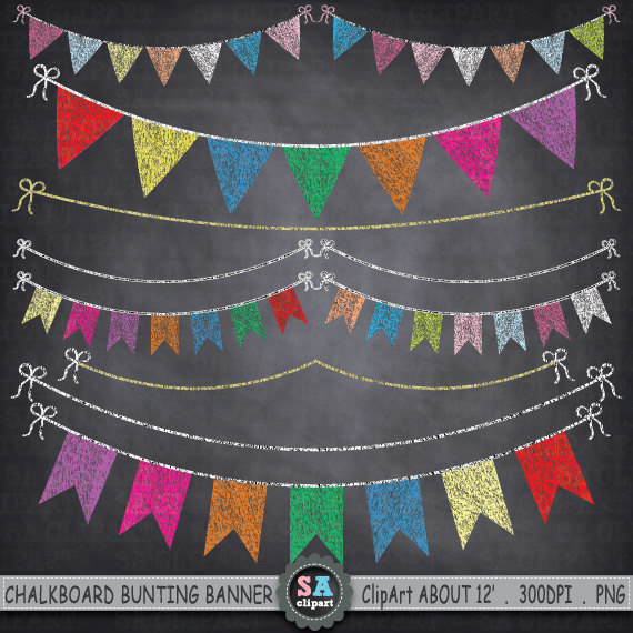 Bunting clipart bright By SAClipArt BUNTING  BUNTING