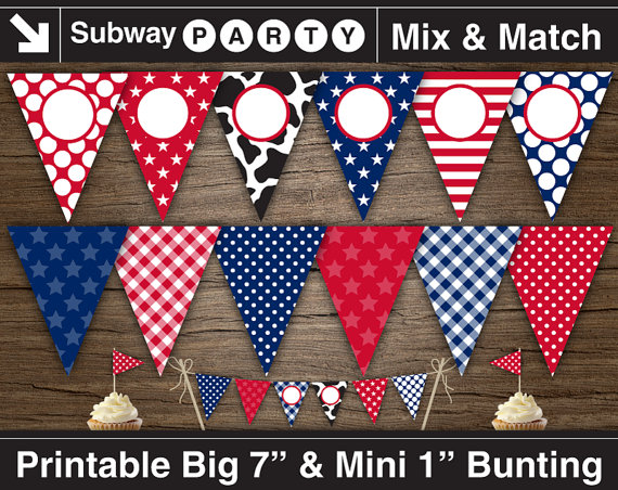 Bunting clipart cowboy Party 7
