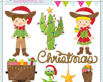 Bunting clipart cowboy Cowboy Christmas Balloons for or