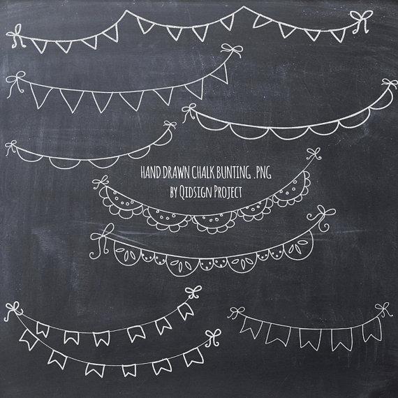 Drawn bunting Bunting drawn clipart chalk chalk