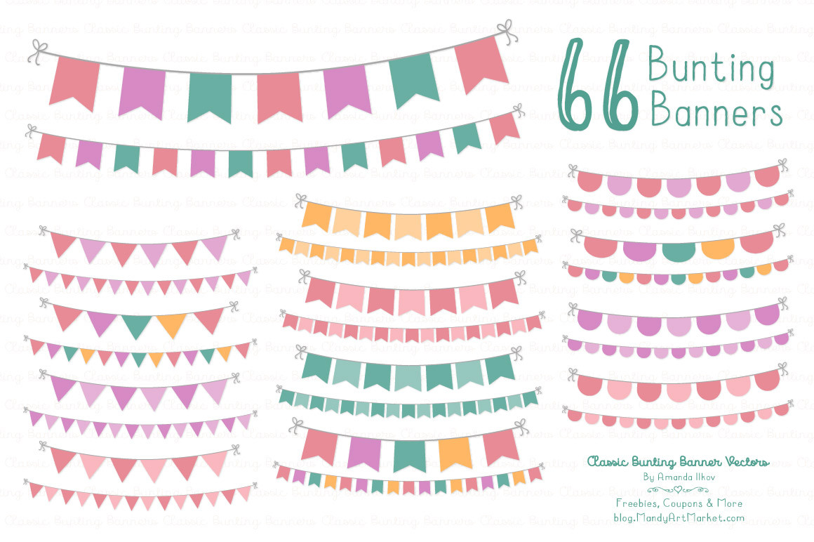 Bunting clipart bright Free Party Art party Cliparts