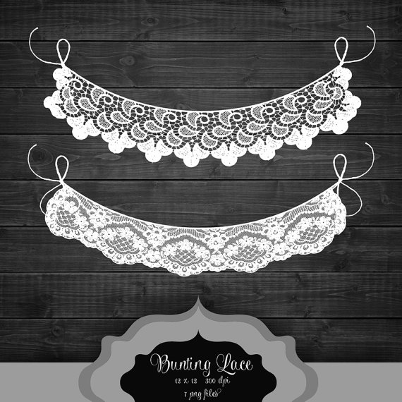 Bunting clipart celebration banner ClipArt Like lace bunting this