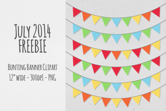Single clipart bunting Designs print projects Banner use