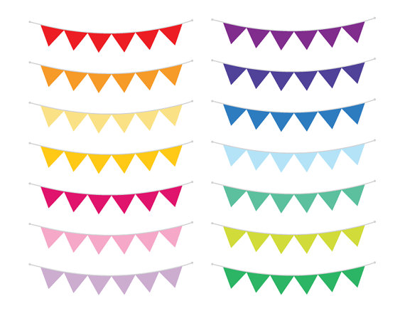 Single clipart bunting Or Vector Flag Color Color