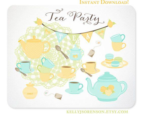 Bunting clipart celebration banner Clipart Ladies Tea Clipart Party