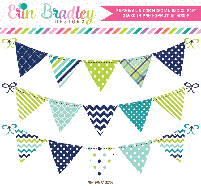 Bunting clipart teal Bunting Green Banner Flag Bunting