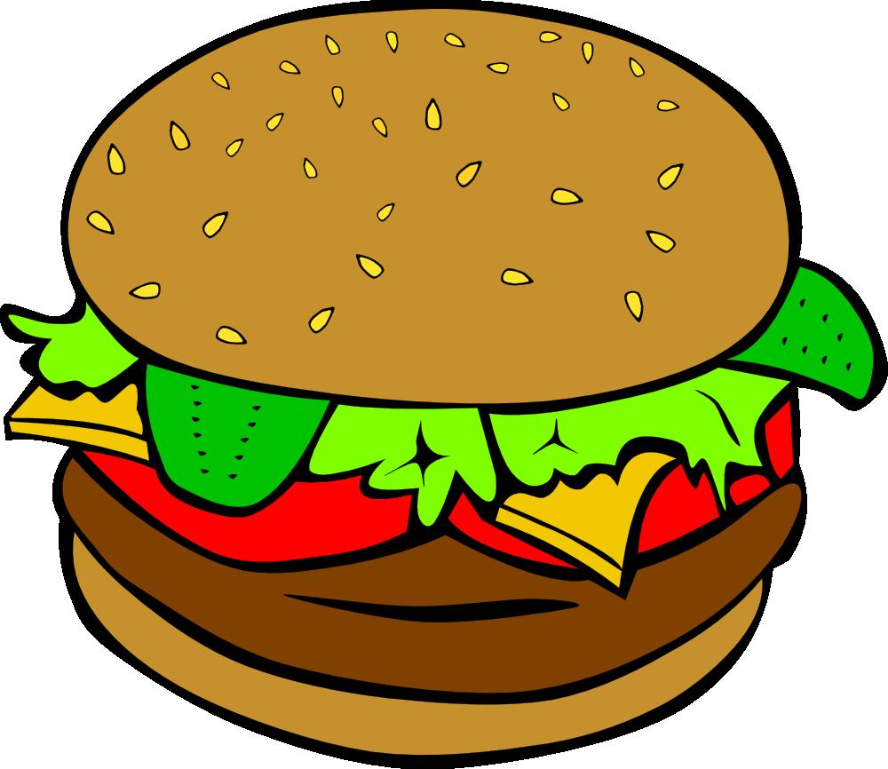 Veggie Burger clipart graphic · #3009 Burger art Hamburger