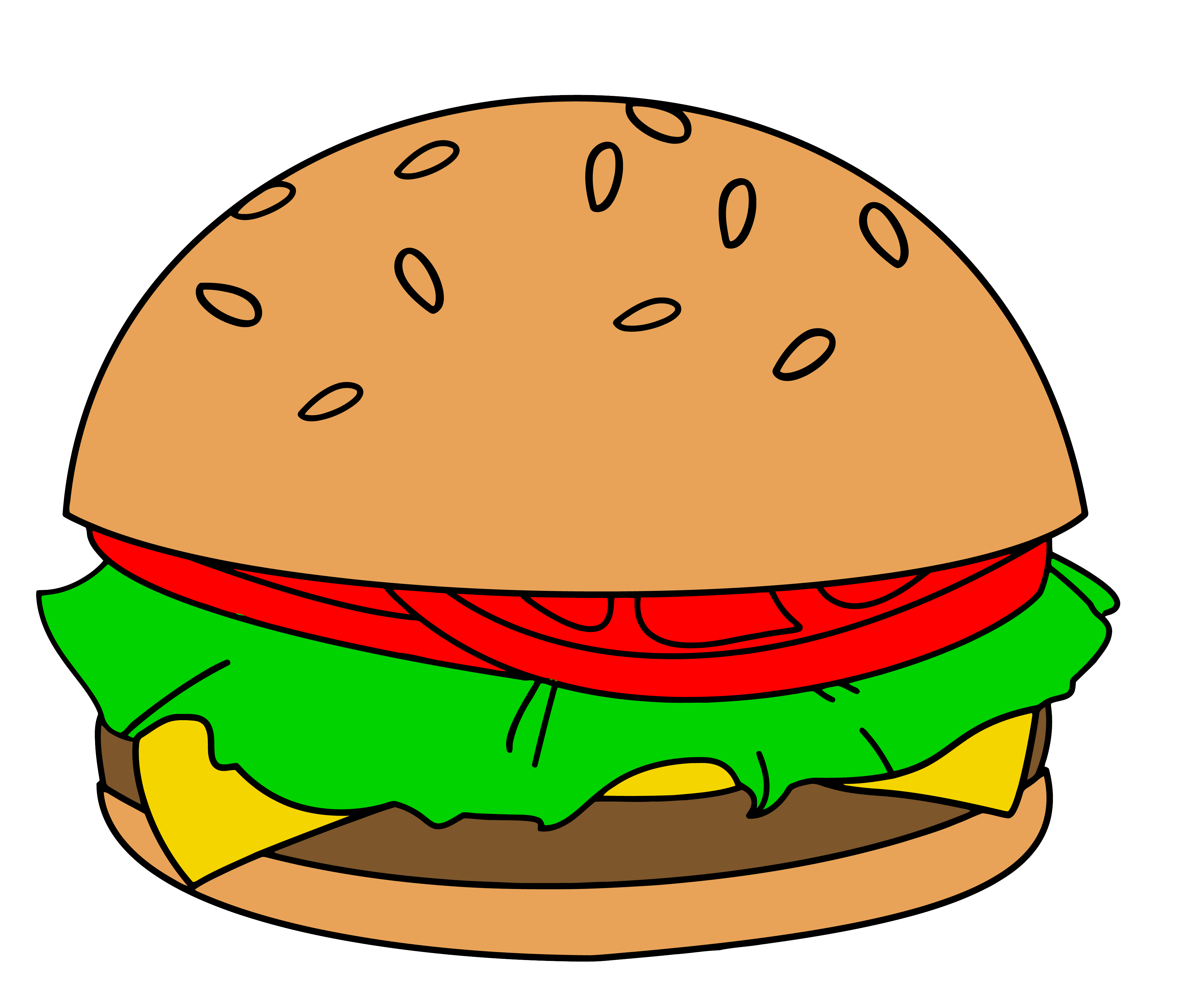Burger clipart 5 burger Hamburger com kid