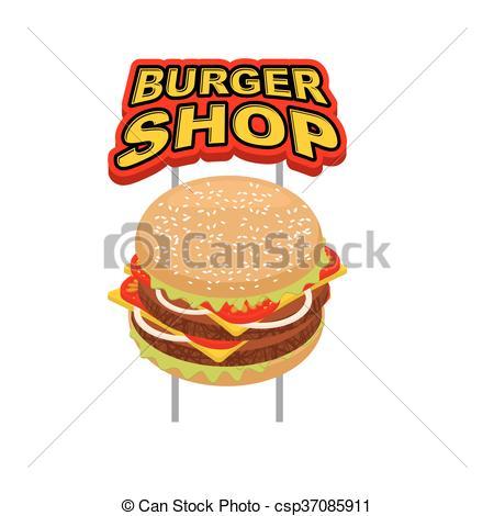 Burger clipart american food Food Clip sign signboard Juicy