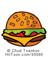 Burger clipart american food Graphics & Illustrations Cheeseburger #95565