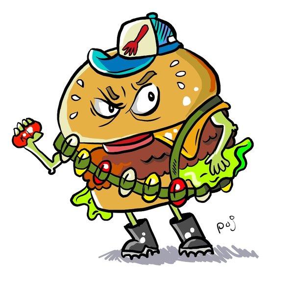 Hamburger clipart angry By Poj5 DeviantArt Burger on