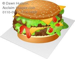 Veggie Burger clipart delicious food Burger Double Illustration Clipart Cheese
