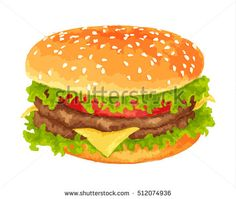 Burger clipart beef burger On Cartoon illustration background Lips