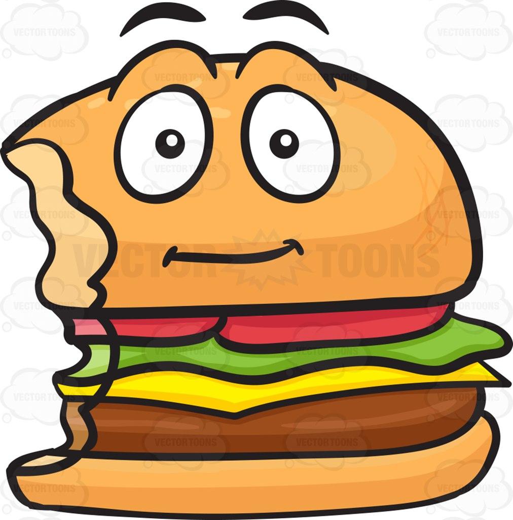 Burger clipart bitten Cartoon With bite Cheeseburger Clipart