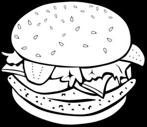 Burger clipart black and white Logo Clip vector Logo art