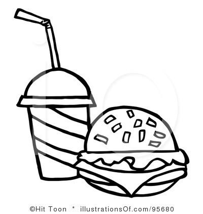 Burger clipart black and white Clipart Free Hamburger Panda Clipart