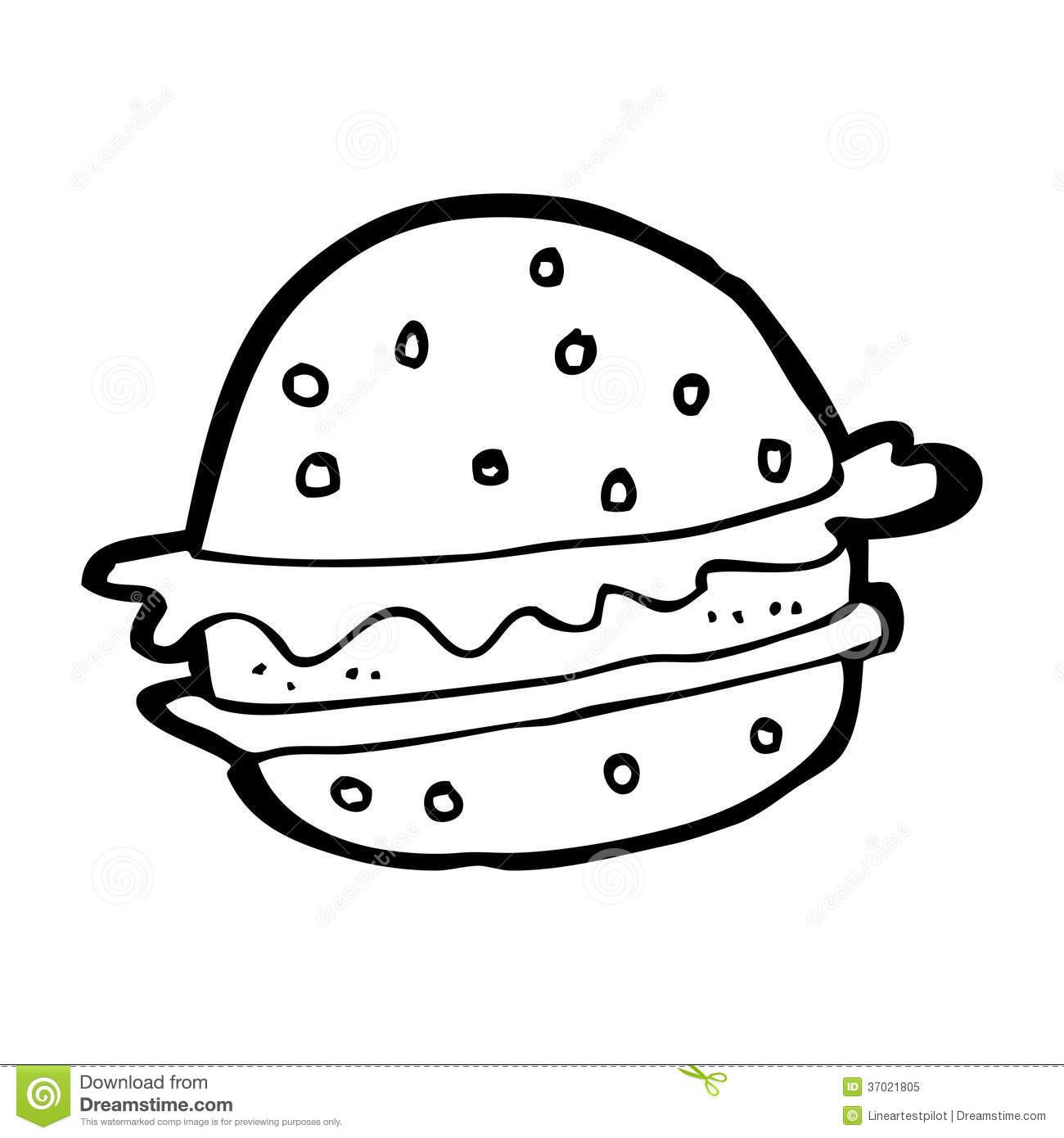 Black clipart hamburger Stock Royalty Bun clipart white