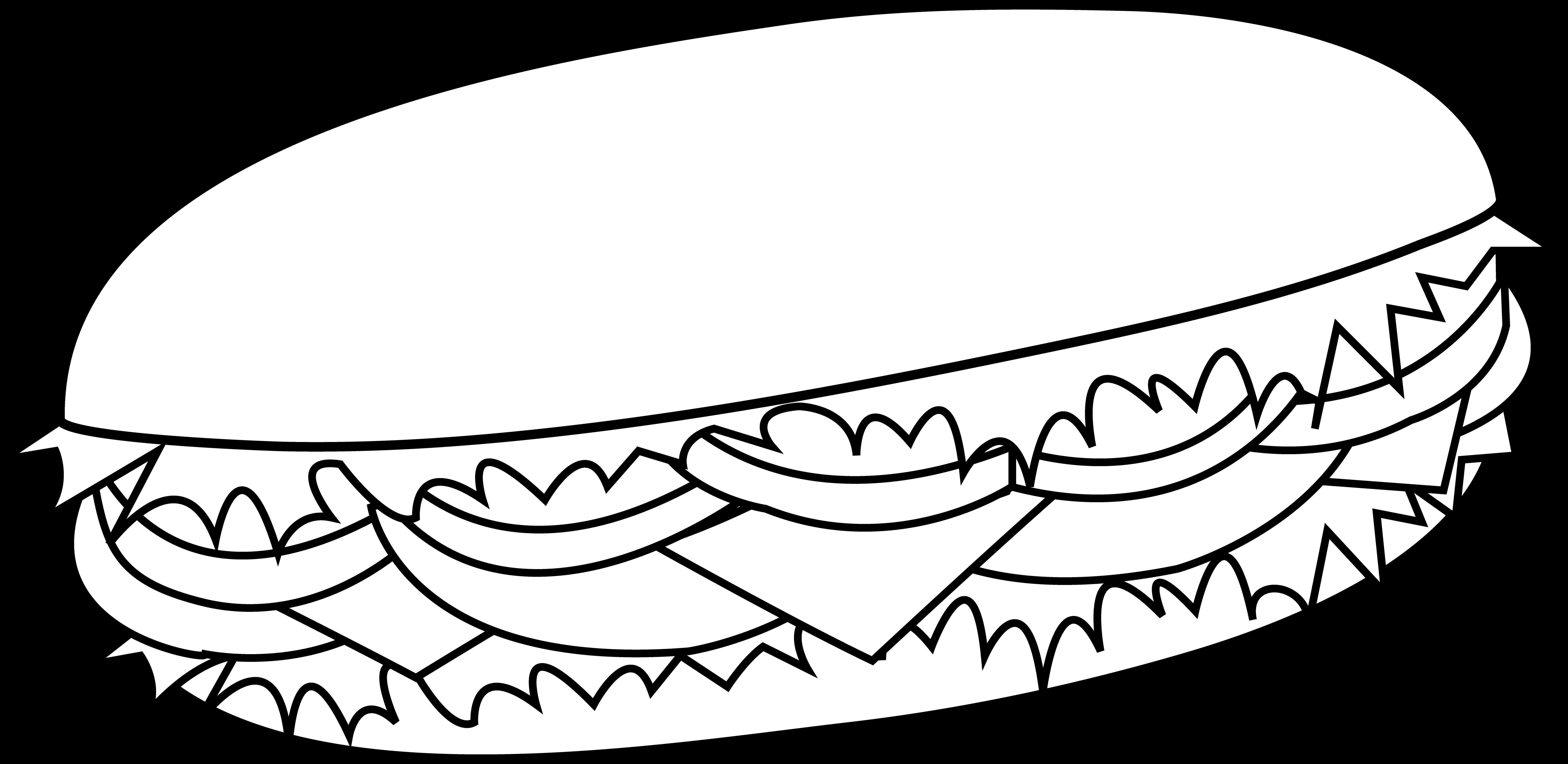 Burger clipart black and white Cliparts Free Clip Black