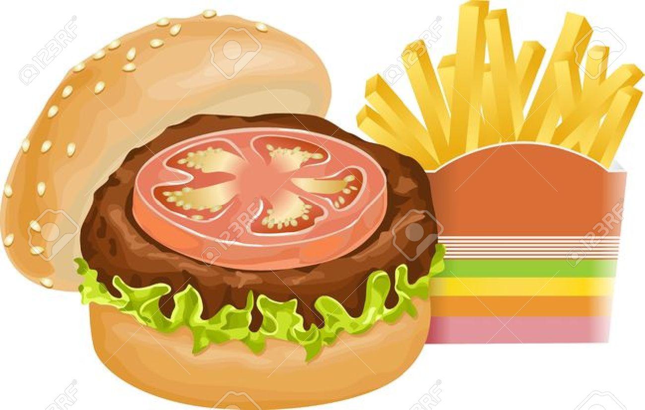 Burger clipart burger and fry Hamburger Clipart Clipart Free —