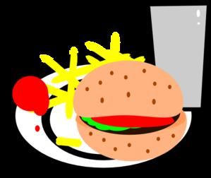 Burger clipart burger and fry Vector Art Clip Burger clip