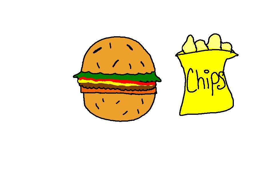 Burger clipart burger chip House Food Collection Church Clipart