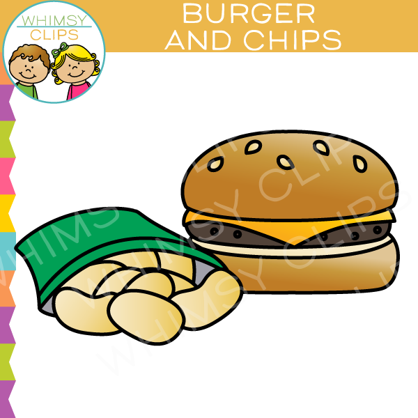 Burger clipart burger chip And Clip Clip Chips Illustrations