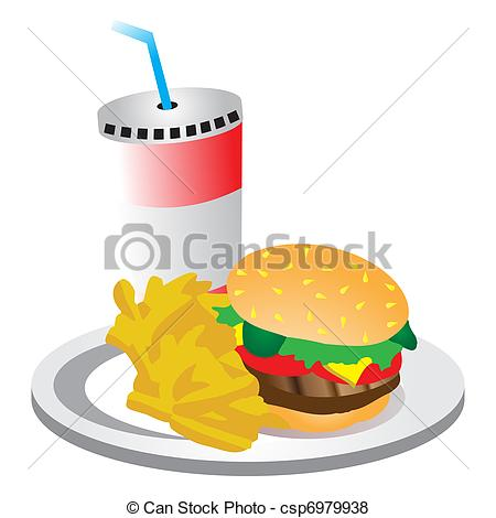 Burger clipart burger chip Drink fries of Burger and