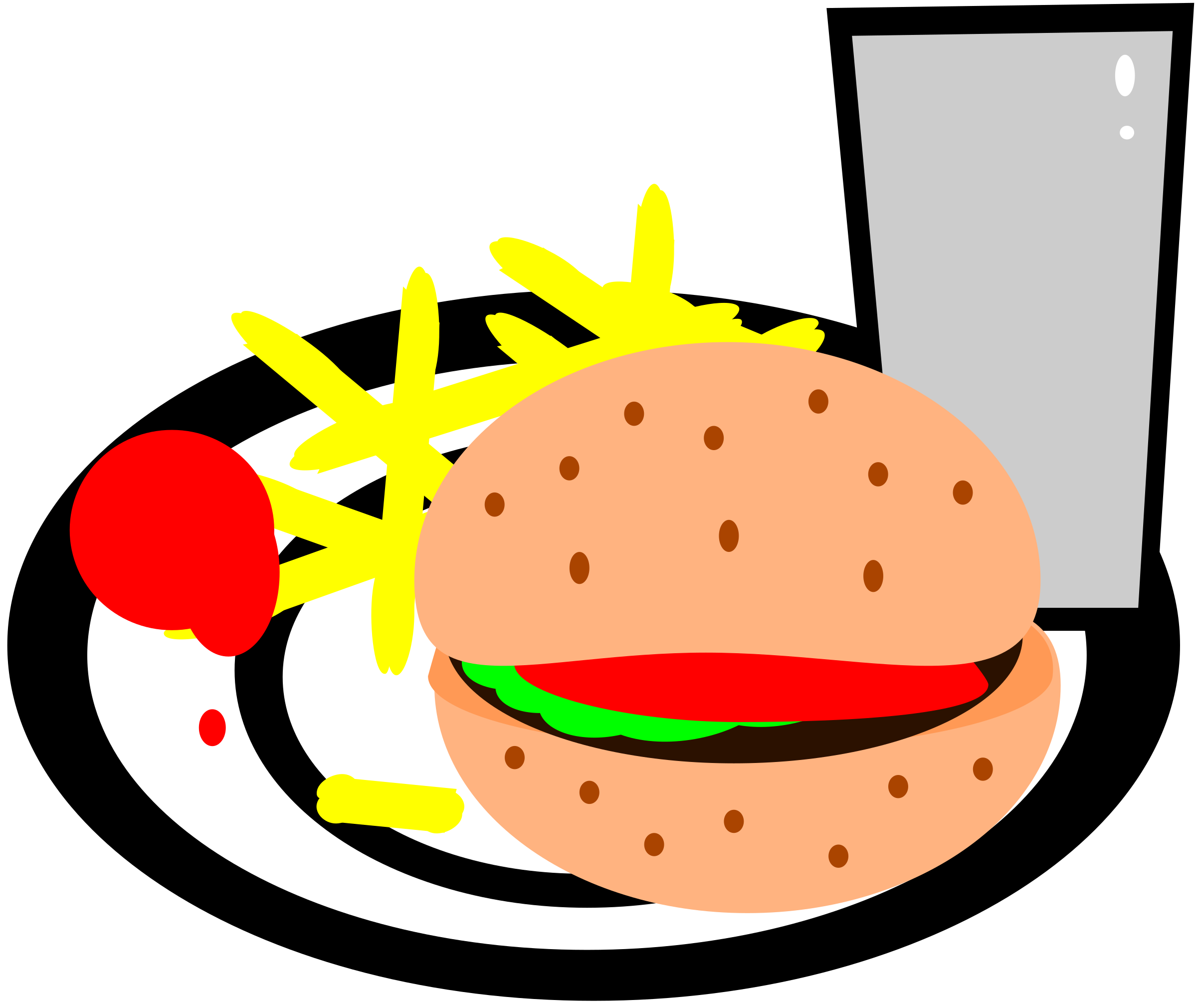 Burger clipart burger chip Burger burger Clipart chips chips