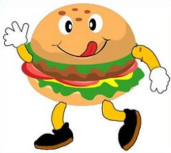Hamburger clipart face Free Clipart Burger Burger Cartoon
